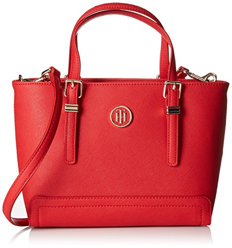 Tommy Hilfiger Damen Honey Small Tote, Rot (Tommy Red), 9.5x27x19 cm (Tote-handtasche Logo)