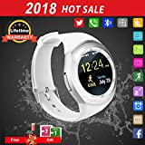Bluetooth Smartwatch Touchscreen Wasserdicht Smart Uhr Sport Fitness Smart Watch mit Whatsapp Handy Uhr Bluetooth Uhr Intelligente Armbanduhr Kompatibel IOS iPhone Andriod Herren Damen Kinder