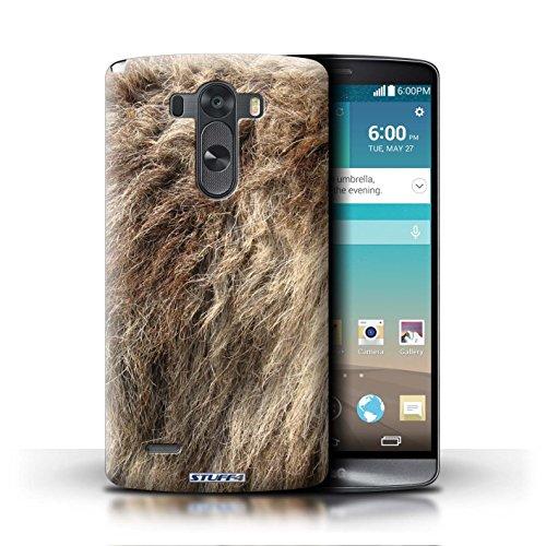 Kobalt® Imprimé Etui / Coque pour LG G3/D850/D855 / Vache/Noir conception / Série Motif Fourrure Animale Loup