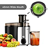 from Aicok Aicok Juicer Juice Extractor Whole Fruit Juicer High Speed for Fruit and Vegetable Dual Speed Setting Centrifugal Fruit Machine Powerful 400 Watt with Juice Jug and Cleaning Brush, BPA Free Model COMIN18JU055658