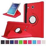 Samsung Galaxy Tab E 9.6 Coque,Flip Case Cover Avec Stand Étui en PU Cuir Rotative...