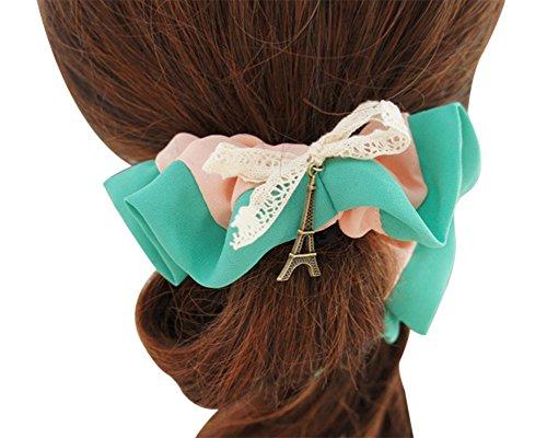 saideng-donne-e-ragazza-pizzo-splice-colore-clip-per-capelli-headwear-verde-pink
