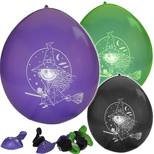 Unbekannt 8 TLG. Set Luftballons kleine Hexe Zauberin Ballon Kindergarten Kindergeburtstag Party Deko Zauberer -