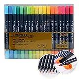 Best US Art Supply Kids Markers - STA Brush Marker Pens With Fineliner Tip,Art Sketch Review