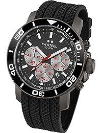 TW Steel Herren-Armbanduhr XL Diver Chronograph Quarz Kautschuk TW-705