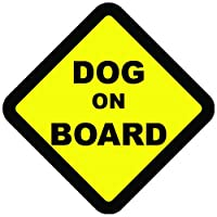 Dog On Board Warning Safety Sign Vehicle Sticker Decal Vinyl