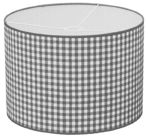 Taftan Suspension Gros carreaux gris (35 cm de diamètre) - Gris