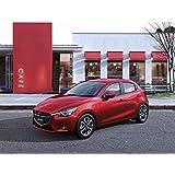"""Clásico y músculo anuncios de coche y COCHE (Mazda Demio (2015) coche Póster en 10mil Archival papel satinado rojo parte delantera estática Vista, papel, Red Front Side Static View, 36"""" x 24"""""""