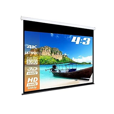 ESmart mIMOTO écran motorisé/largeur : 314 cm surface d'affichage : 280 x 213 cm - 4:3 avec télécommande/vollmaskierung avec modèle 2015