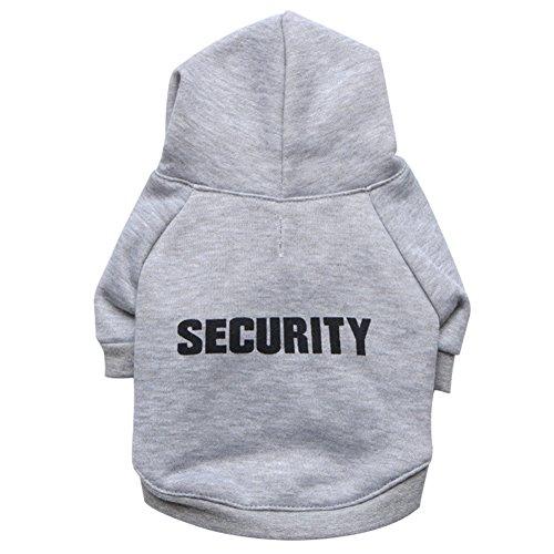 "Zrong Kleine Hunde Haustier Kleidung \"" SECURITY \"" Hoodie Warm Mantel Pullover Welpen Apparel"