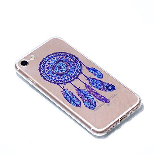 Coque Pour iPhone 7 , HLZDH mignon Premium Gel TPU Souple Silicone Transparent Clair Bumper Protection Housse Arrière Étui Pour iPhone 7 + Stylus image-1