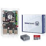 [SmartFly] Tinker Board tinkerboard RK3288 SoC 1.8GHz Quad Core CPU, Mali-T764 GPU, 2GB Thinker Board mit OS TF Karte WiFi, BT, Gigabit Ethernet