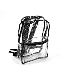 c337c3ac0d38 Tellaboull Stylish Clear Transparent PVC Backpack Women Girl Student  Shoulder Bag Fashion Design School Bag Trendy Style Zipper…