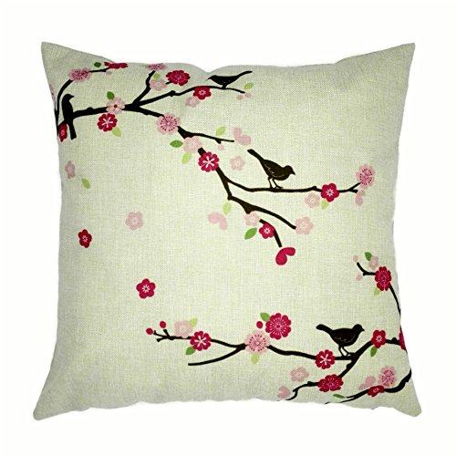 HUAYIFANG Baumwolle Kissenbezüge Halten Pflaumenbaum Vogel Muster Mianma Hug Kopfkissenbezug, Ein
