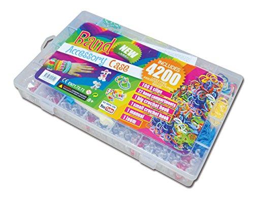 Kasten mit 4200 Loom Bands + Loom + Clips (Case Kit)