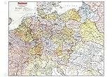 Historische Karte: DEUTSCHLAND (Großdeutsche Reich) mit Gaugrenzen 1942 (Plano) - ohne