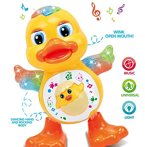 Toyshine Dancing Duck with Music Flashing Lights and Real Dancing Action