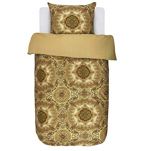 Essenza Bettwäsche Cadiz Gold Gelb Ornamente Paisley Satin 135x200 cm + 80x80 cm