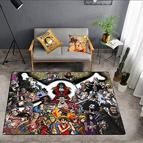 SYXYSM (One Piece Anime Design Rechteckigen rutschfesten Teppich Startseite Anime Foto Wohnzimmer Schlafzimmer Full Shop Large Size Teppich Teppich (Color : N, Size : 120cm×160cm)