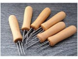 Blueqier Sinnvoll 2PCs/Set Maiskolben Halter Gabeln Holzgriff Mini Corn Fork Zum Grillen