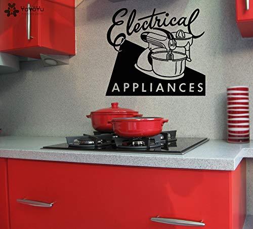 zhuziji Küche Wandtattoo Zitate Elektrogeräte Vinyl Wandaufkleber Geschenke Adesivo De Parede Dekoration Zubehör D 86x98 cm