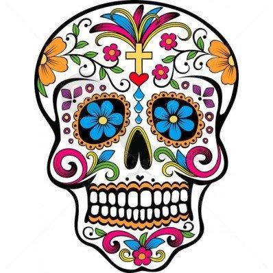 Sugar Skull - Temporary Tattoo by TempTatz by TempTatz