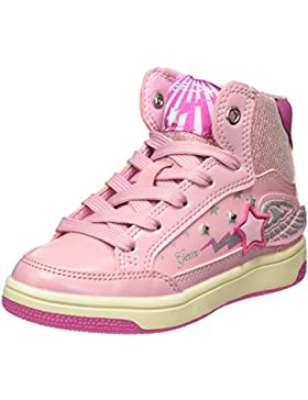 Geox Jr Creamy a, Zapatillas Altas para Niñas