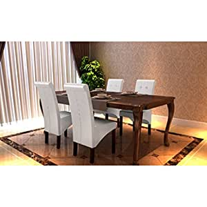 High backed dining room chairs set of 4 white amazon for B m dining room furniture