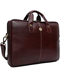 f3b1d55cde41 Hammonds Flycatcher Genuine Leather 15 inch 14 inch 13 inch Office  Messenger Bag with 360 Days
