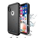 Wigoo Wasserdicht Hülle für iPhone X/XS, Schutzhülle Ganzkörper Rugged Case [Staubdicht]...