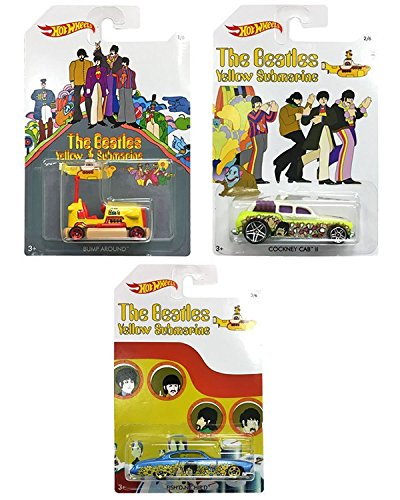 Hot Wheels The Beatles Yellow Submarine - Mochilas coleccionables (Escala 1:64, Metal Fundido)