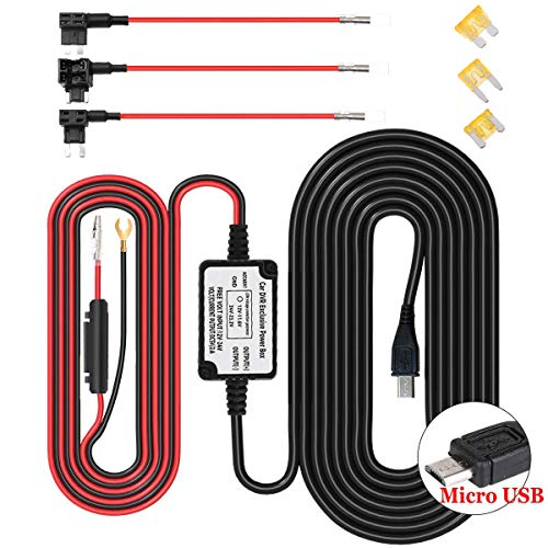 Mini/Micro Hard Wire, Artbest USB Puerto Dash CAM Kit 12V a 5V,...