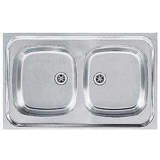 516zfxrNKDL. SS324  - Franke 103.0205.573seda fregadero de cocina con doble de acero inoxidable Bowl de Franke Sara SXN, gris