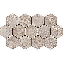 Ragno Epoca Ocra Decoro Cementine 21x18,2 cm R55T Piastrelle Pavimenti Rivestimeni in Ceramica per Casa Bagno Cucina Esterni in Offerta