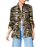 FIND Patch Detail Camouflage, Chaqueta Mujer, Multicolor (Camo Green), S