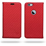 Ceego Ultra Compact Magnetic Lock Flip Cover For IPhone (Apple IPhone 6 / 6s, Scorching Red)