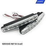 JORSHAKE Tagfahrlicht 5050SMD R87 E4 StvzO , Tagfahrleuchten 12V super helle LED Tagfahrlicht Auto KFZ daylight