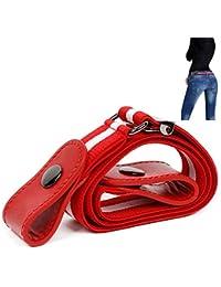 leegoal Ceinture élastique sans boucle pour les femmes hommes, mode  confortablement réglable ceinture élastique 0f959a137de