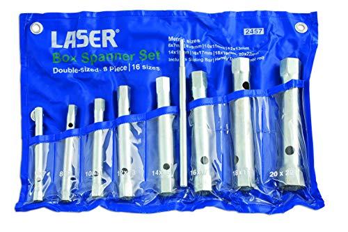 Laser 2457 - Juego de llaves tubulares (8 unidades)