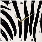 13x13 Wall Clock : 3dRose dpp_17537_2 Zebra Print Wall Clock, 13 by 13-Inch