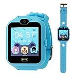 Hangang Smartwatch Orologio Kids Telefono Smart Game Orologi per bambini, Kid Smartwatch Videogiochi Touch Screen Cool Toys Guarda i regali per ragazze Ragazzi (Blue)