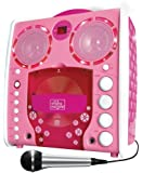 Singing Machine SML-383 Portable CD-G Karaoke Player and 3 CDGs Party Pack - Pink