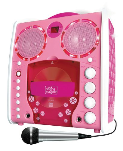 Preisvergleich Produktbild Singing Machine SML-383 Tragbarer CDG Karaoke-Player und 3 CD+Gs Party Packet rose