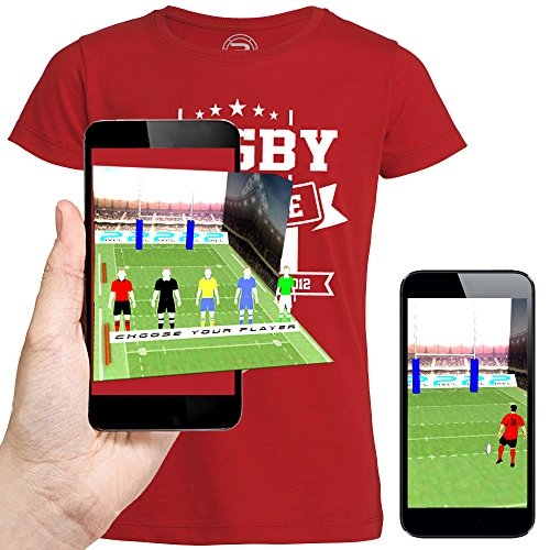 3D animierte T-shirt RUGBY TOULOUSE Augmented Reality - PIXEL EVOLUTION - Mann Rot