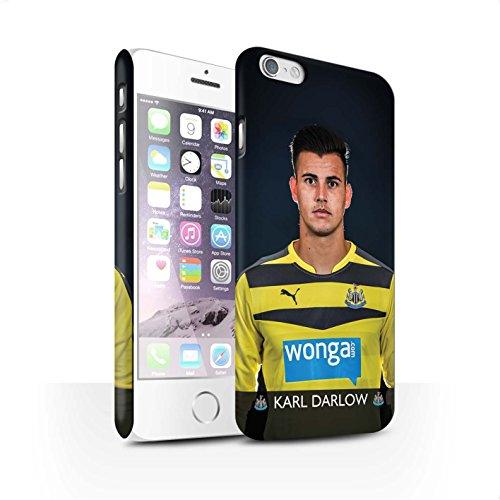 Offiziell Newcastle United FC Hülle / Matte Snap-On Case für Apple iPhone 6S / Pack 25pcs Muster / NUFC Fussballspieler 15/16 Kollektion Darlow