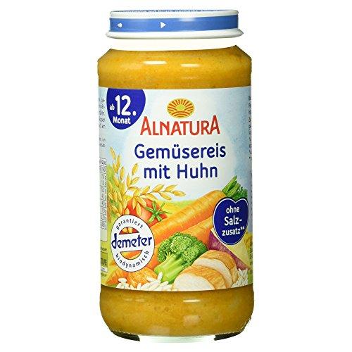 Alnatura Bio Kindermenü Gemüsereis und Huhn, 250 g