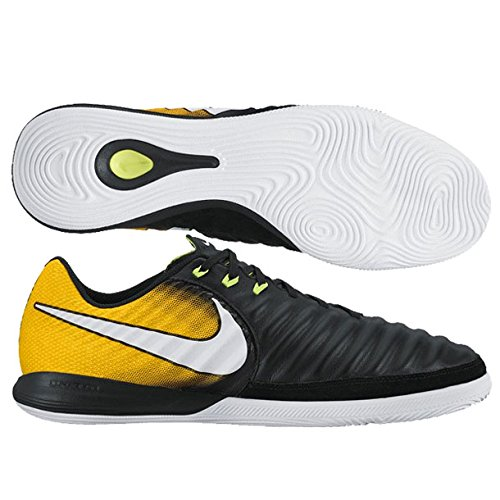 NIKE Tiempo X - Scarpa Calcetto Uomo Indoor , (Black/White-laser Orange-volt), 40.5 EU