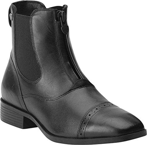 ARIAT Damen Reitstiefelette CHALLENGE SQUARE TOE Zip PADDOCK (mit Reißverschluß vorne) schwarz