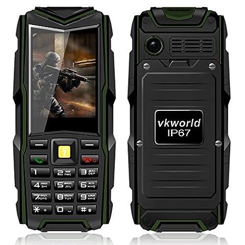 VKworld Handy Wasserdicht Outdoor 2017 für Senioren Tripel SIM Staubdicht Stoßfest Ohne Vertrag Große Tasten Simlockfrei Smartphone mit Kamera Taschenlampe, für