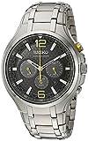Seiko Herren Chronograph Solar Uhr mit Edelstahl Armband SSC449P9